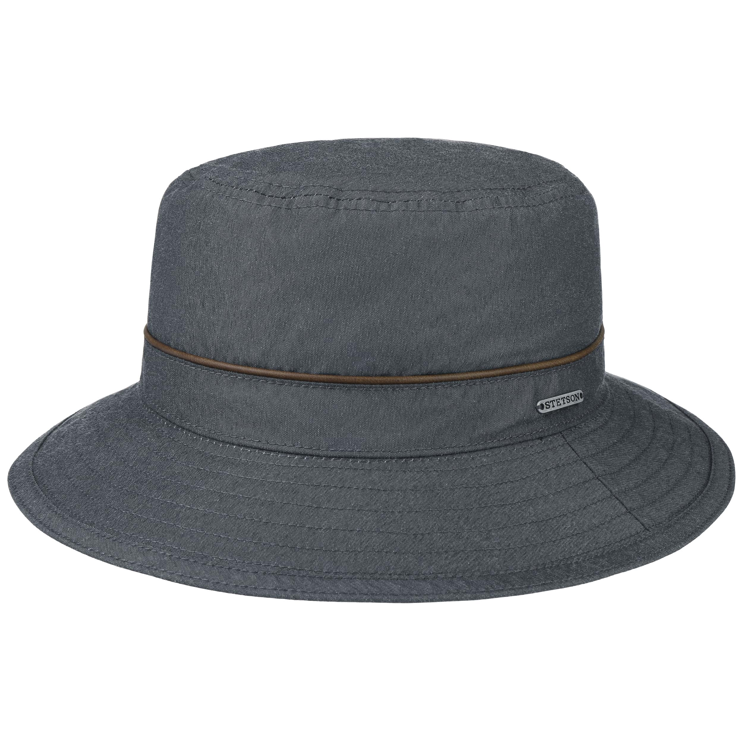 Stetson Chapeau Outdoor Waxed Cotton gris foncé XL (60-61 cm)