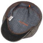 Kennett Basket Weave Flatcap schwarz