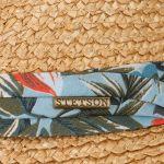 Flower Vintage Trilby Strohoed naturel