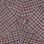 6 Panel Varysburg Check Flatcap braun-blau