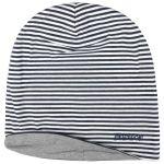 Reversible Jersey Long Beanie grey-blue