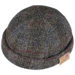 Harris Tweed Vangordon Docker Hat grey