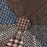 Hatteras Patchwork Check Flat Cap mixed colours