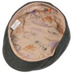 Woodfield Cotton Linen Flatcap schwarz