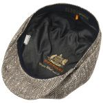 Hatteras Herringbone Silk Flatcap braun