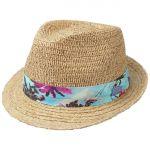 Bluemont Trilby Raffia Hat nature