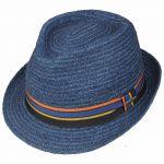 Cantalo Trilby Raffia Hat blue