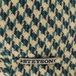 Kent Coloured Houndstooth Flat Cap beige-green