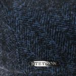 Precious Wool Mix Flat Cap blue-mottled