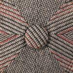 Hatteras Silk and Wool Flatcap beige-rot
