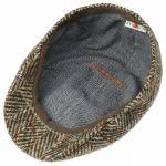 Texas Herringbone Wool Flatcap braun