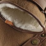 Deerskin Lambswool Gloves brown