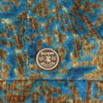 Hatteras Baroque Velvet Flat Cap turquoise