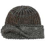 Saloma Shiny Beanie Hat grey