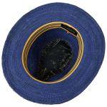 Tricolour Band Traveller Strohhut blau