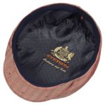 Woodfield Cashmere Flat Cap with Silk red