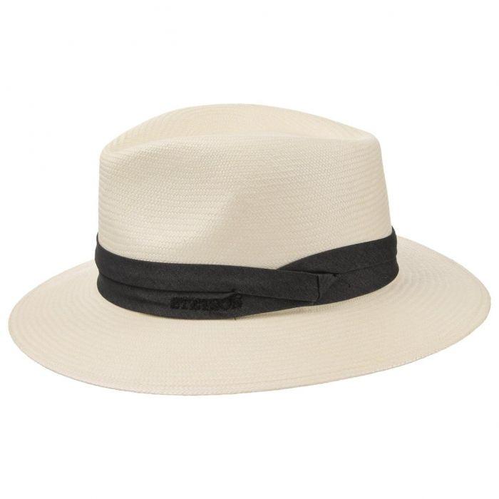 Jefferson Bleached Panama Hat cream white