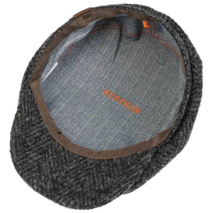 Hatteras Herringbone Flatcap schwarz