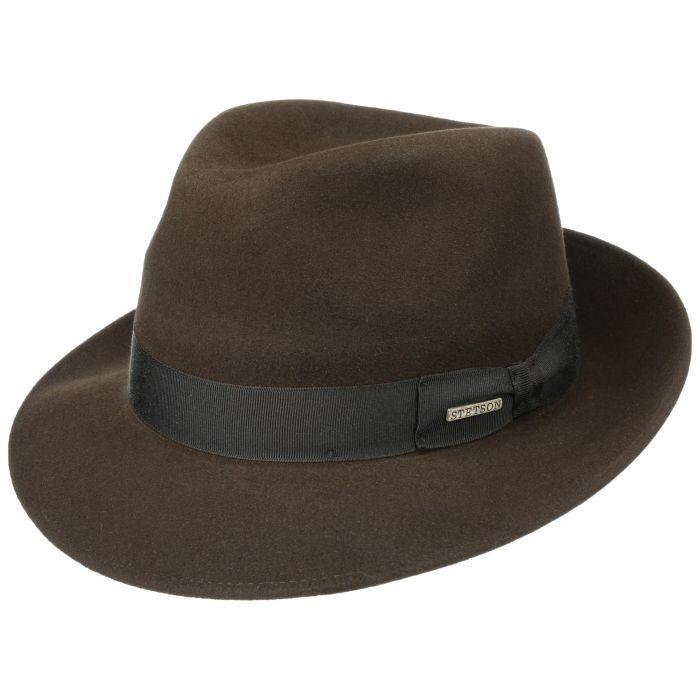 Rossford Fur Felt Bogart Hat brown