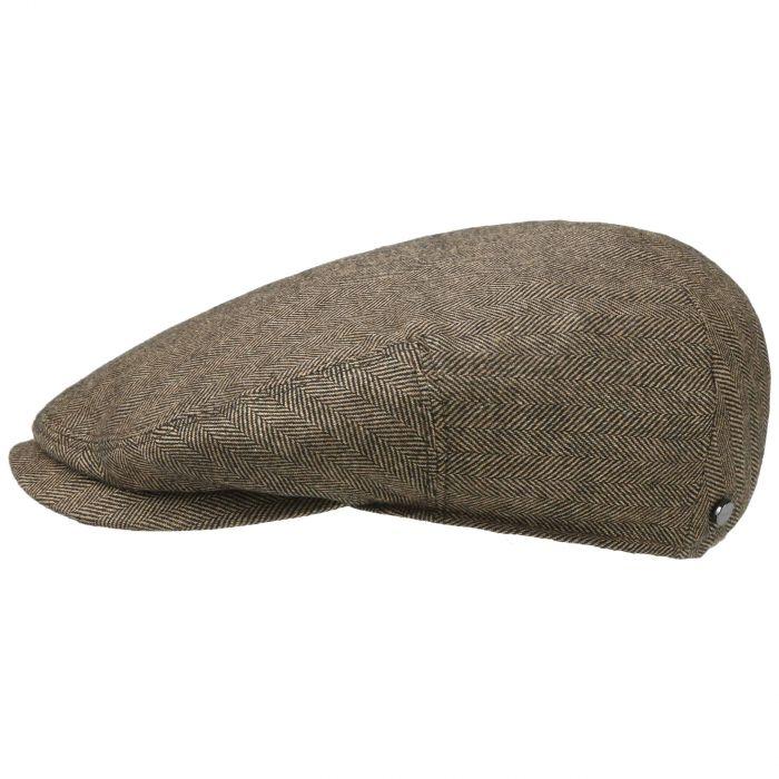 Bandera Herringbone Flat Cap brown