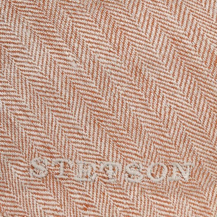 Woodfield Linen Flat Cap oranje