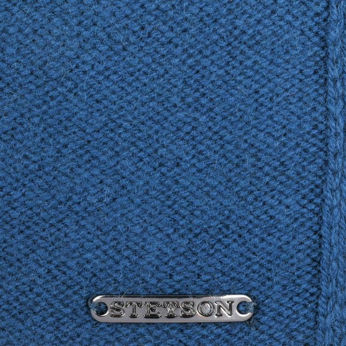 Écharpe en Tricot Cashmere Wool bleu