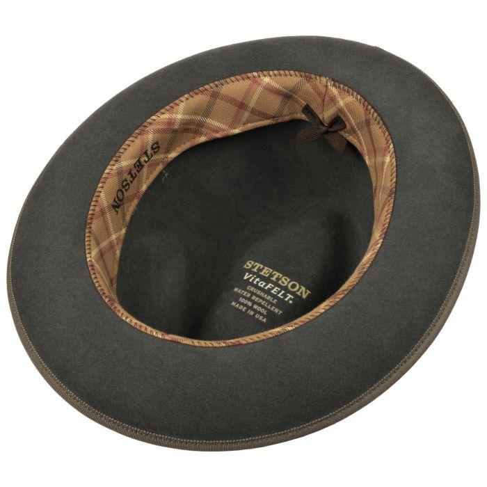 Vermont Fedora VitaFelt Hat grey