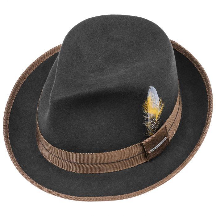 Orleans Fedora VitaFelt Hat dark grey