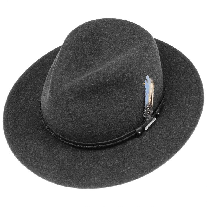 Newsend Traveller VitaFelt Hat anthracite-mottled