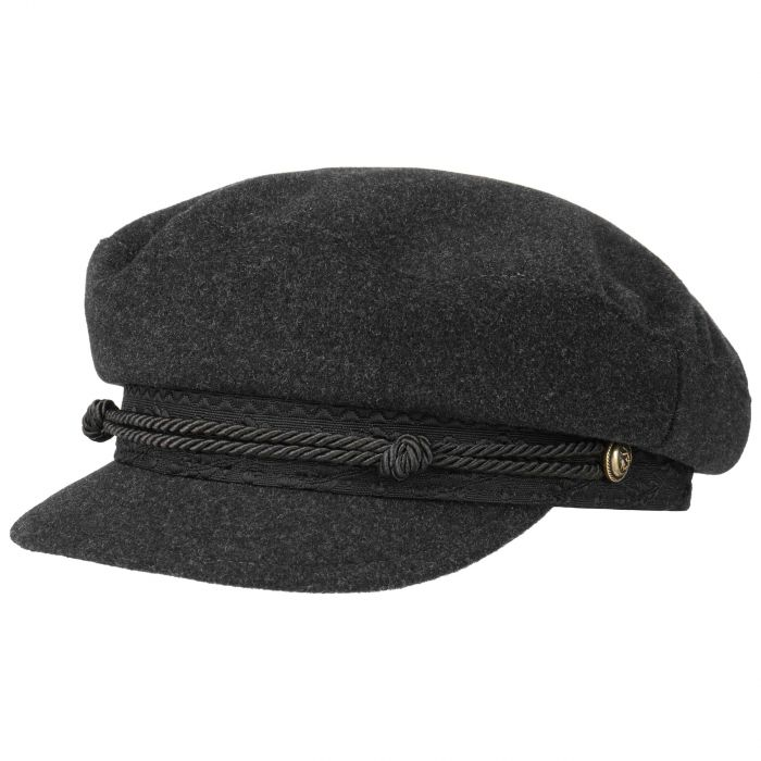 Wool Cashmere Riders Cap grey
