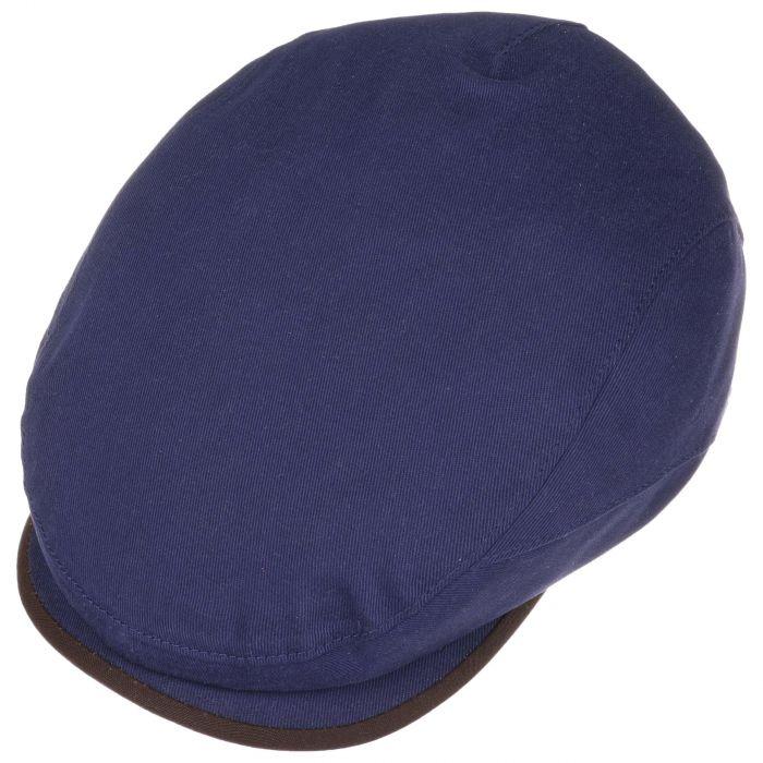Allweather Cotton Belfast Flat Cap blue