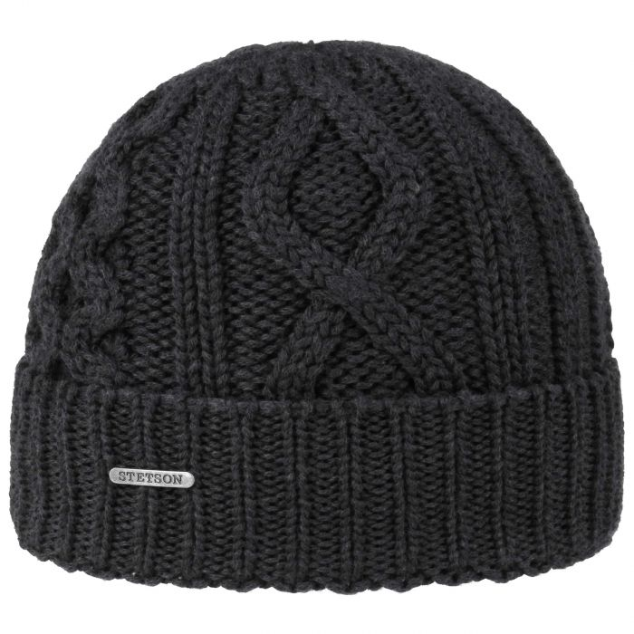 Tornell Wool Beanie with Cuff black