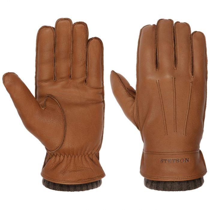 Deer Cashmere Leather Gloves light brown