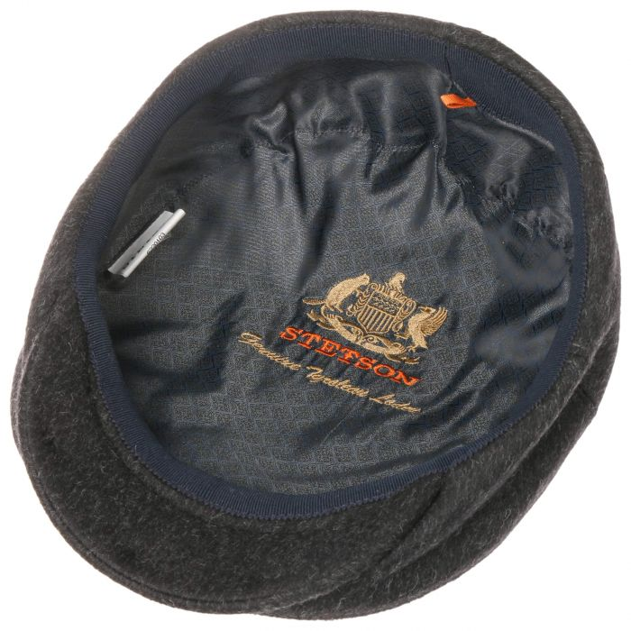 Tyrolean Loden Flat Cap anthracite