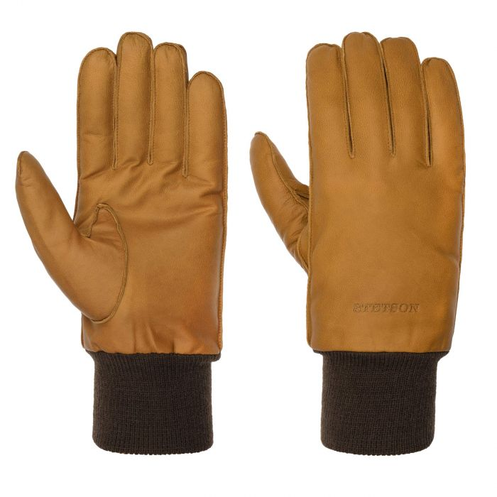 Goat Nappa Leather Gloves light brown
