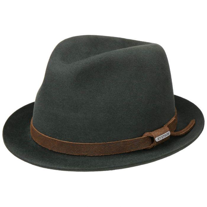Vernier Player Hat Fur Felt Hat dark green