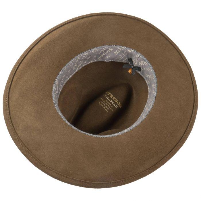Chapeau Wide Brim VitaFelt Western marron