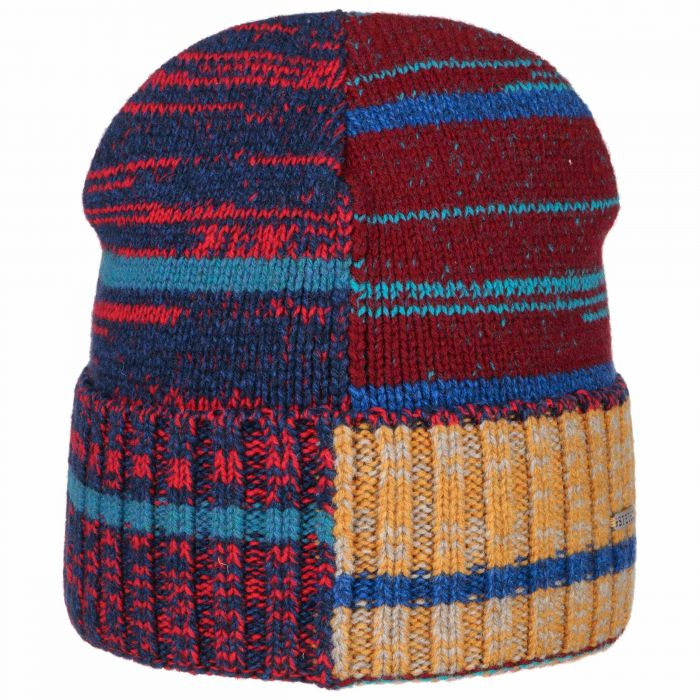 Patchwork Wool Beanie red
