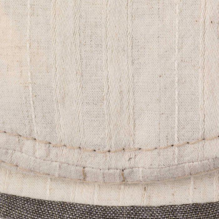 Belfast Cotton-Linen Flat Cap oatmeal