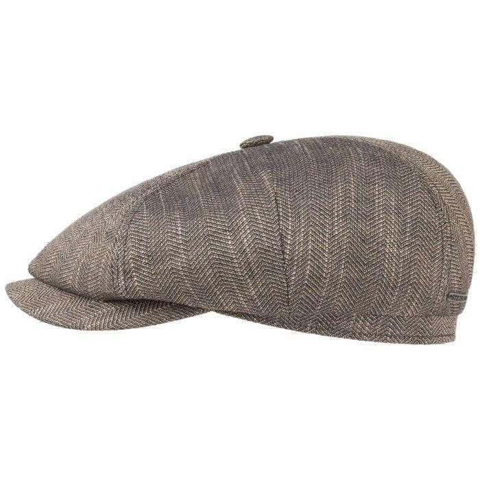 Harwinton Linen-Cotton Flatcap dunkelbeige-meliert