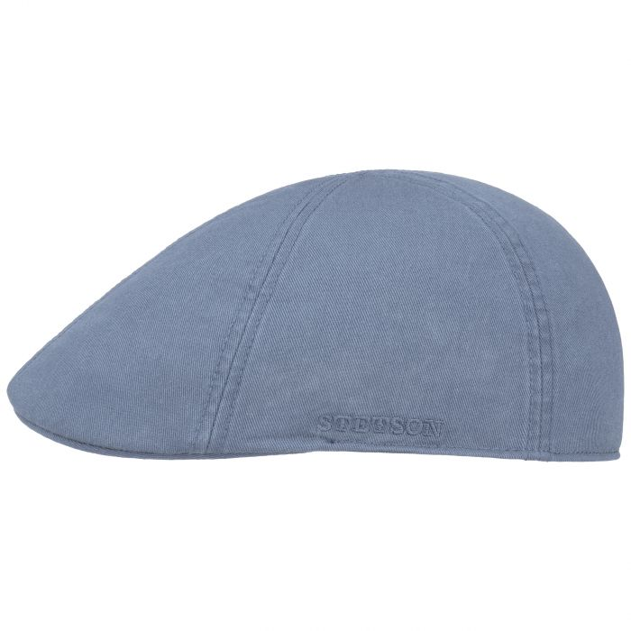 Texas Sun Protection Flat Cap pigeon blue