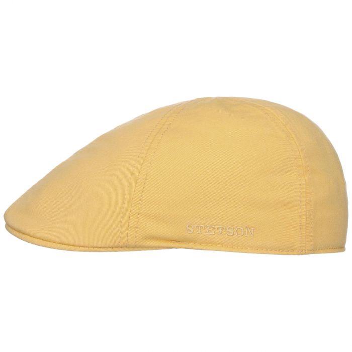 Texas Sun Protection Flat Cap pastel yellow
