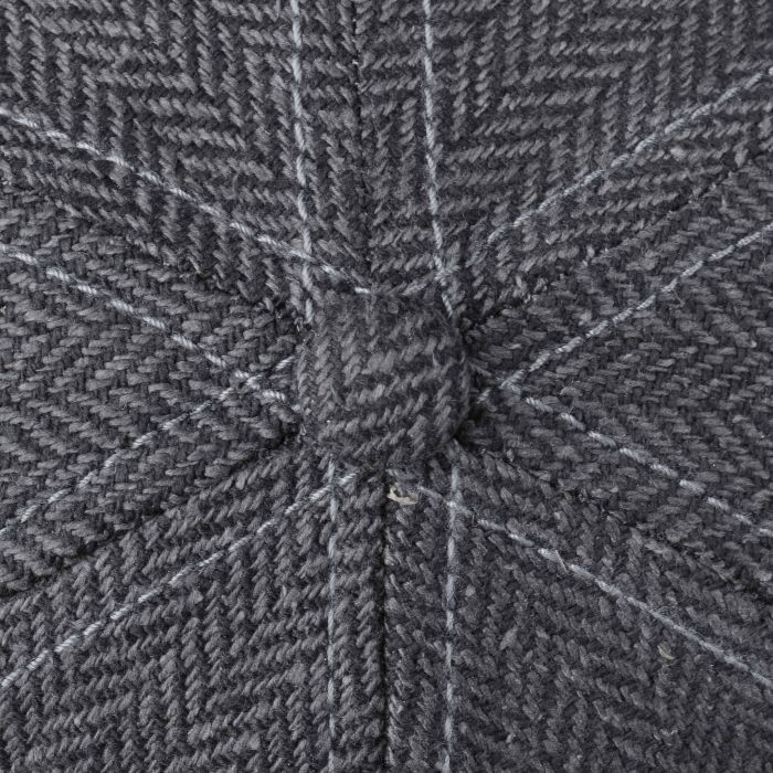 Rector Silk Herringbone Cap dark grey