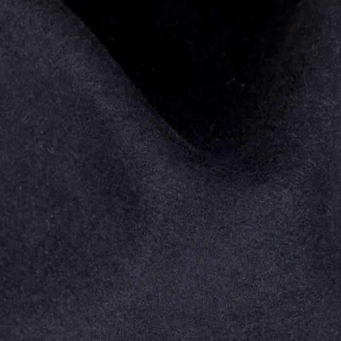 Contrast Stitch Fedora Fur Felt Hat navy
