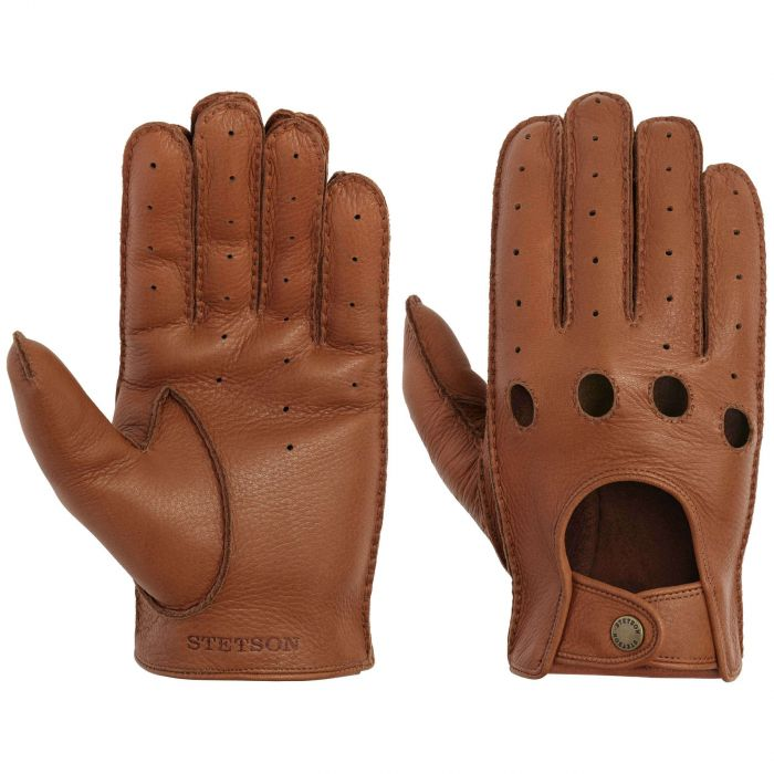 Convertible Deer Nappa Leather Gloves brown