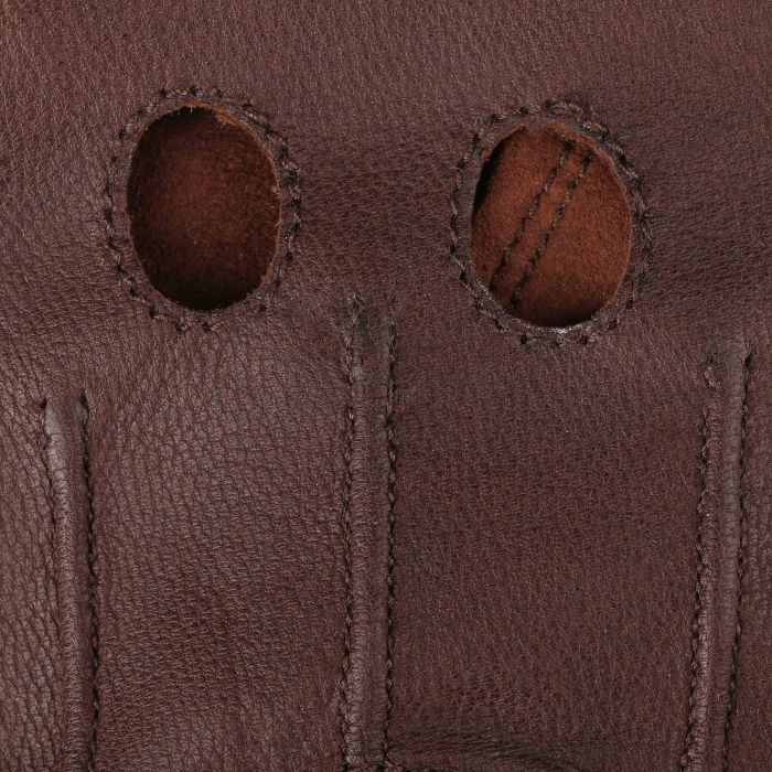 Summer Oily Goat Nappa Leather Gloves brown