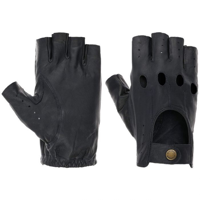 Summer Oily Goat Nappa Leather Gloves navy