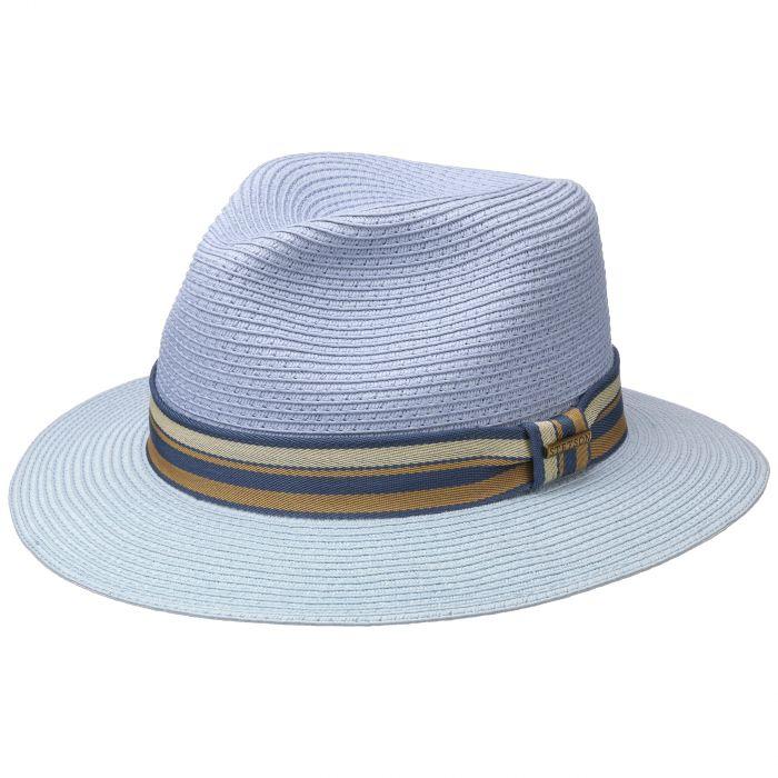 Romaro Toyo Traveller Strohoed lichtblauw
