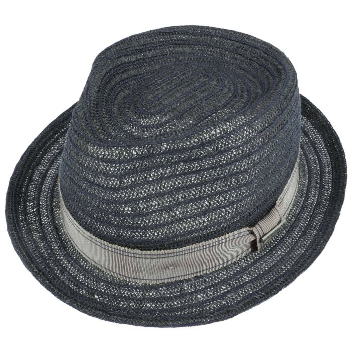 Lennart Abaca Straw Hat navy