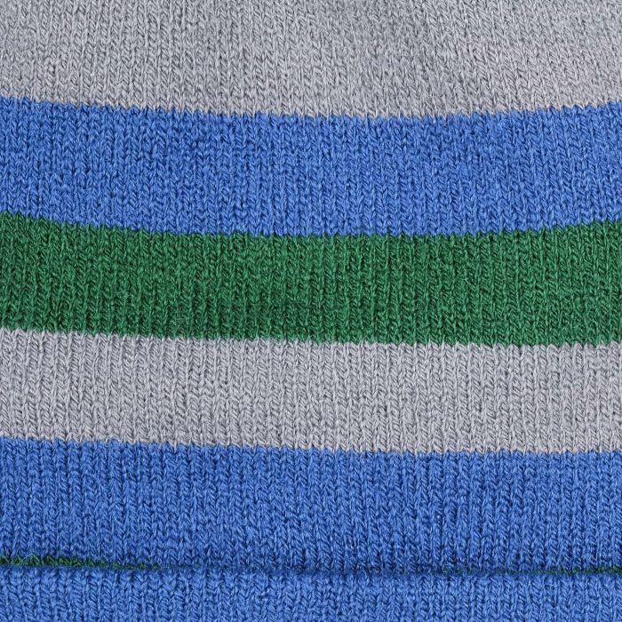 Tricolour Stripes Umschlagmütze blau